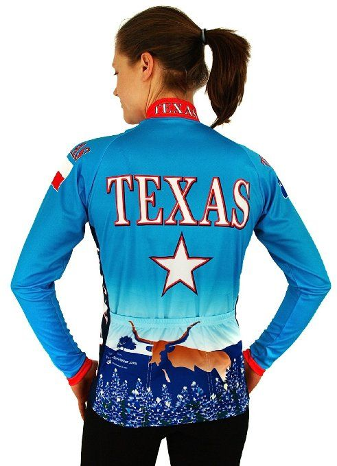 Amazon.com   Women s Texas Long Sleeve Jersey 2XLARGE   Cycling Jerseys    Sports   Outdoors 1516dcd70