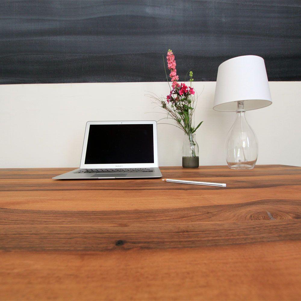 Holzgespur Nussbaum Schreibtisch Kreativphase Losgehts Esstisch Tisch Holz