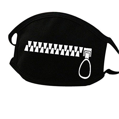 Unisex All Members Fashion Black Earloop Mask Antidust Cotton Face