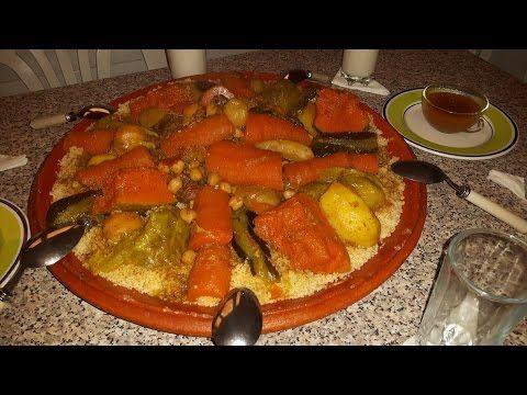 المطبخ البسيط اسرع طريقة لتحضير كسكسو مغربي ناجح و رآآائع Youtube Vegetables Couscous Food