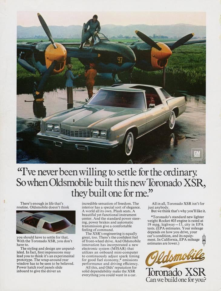 Publicité Oldsmobile Toronado XRS - source Collectible Automobile ...
