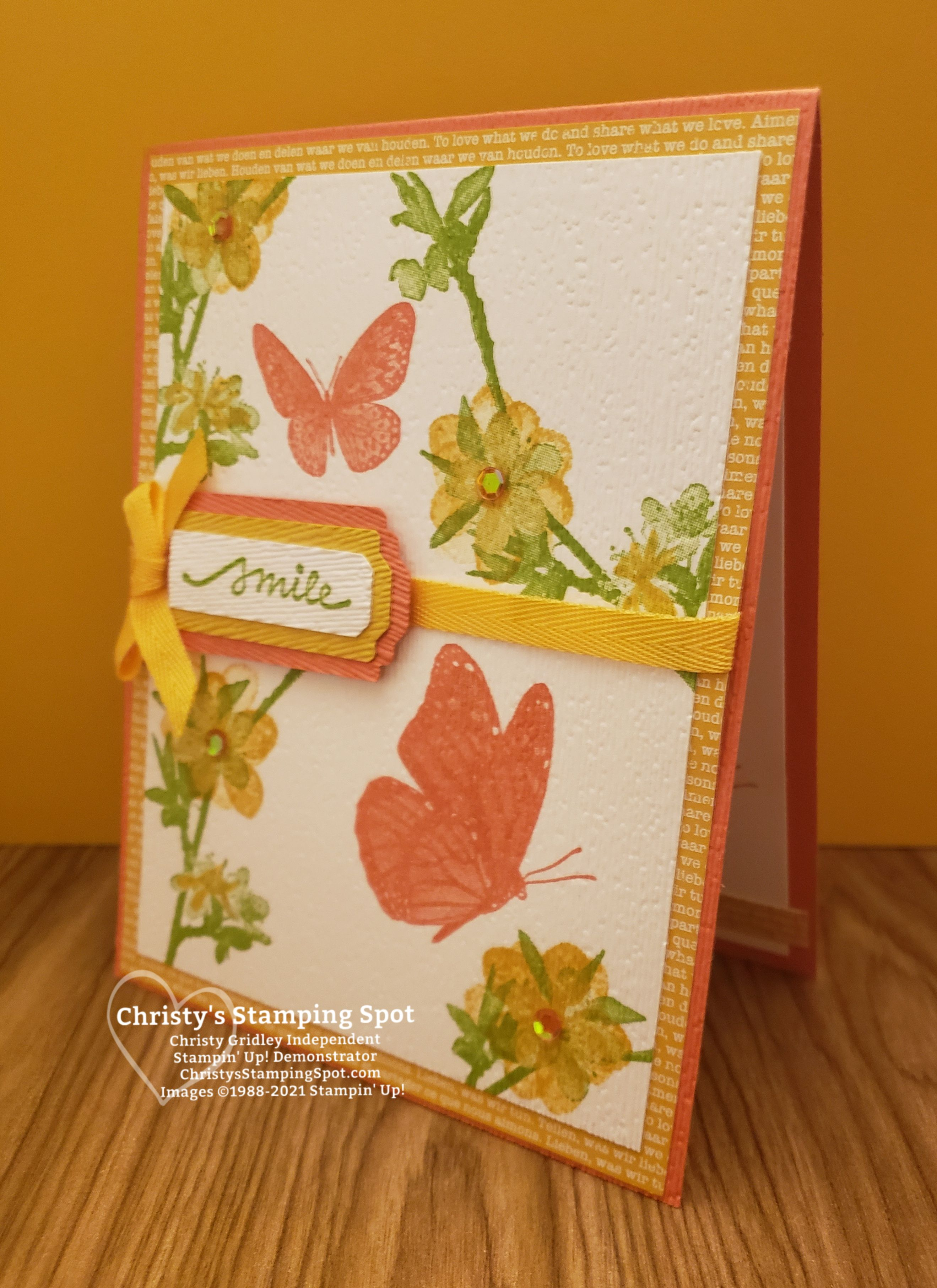 Stampin' Up!® Smile Butterfly Wishes Card in 2020