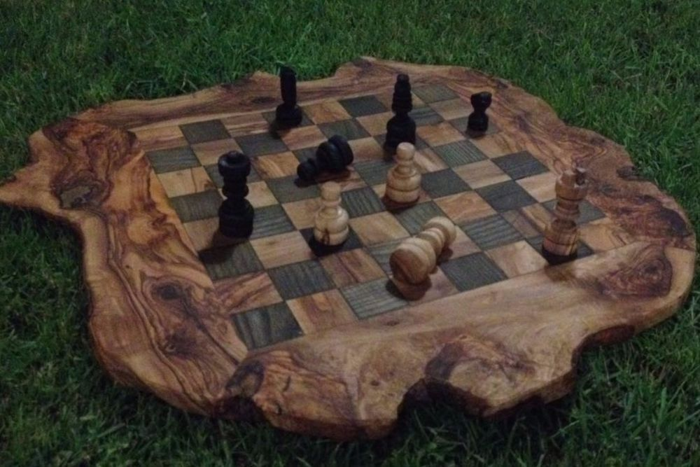 Handmade Rustic Olive Wood Small Chess Board S6x6 Chess Game Unique Gift Beldinest Chess Board Wooden Chess Board Wooden Board Games