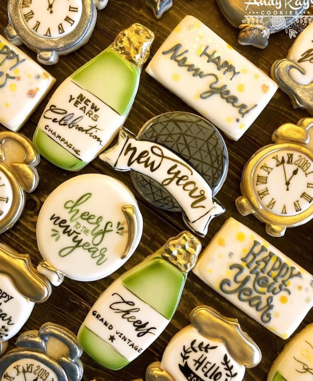 Pin by Wood on New Years Eve Theme New years cookies