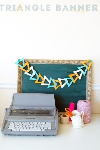 Triangle Banner | 33 Awesomely Festive Ideas For DIY Garlands