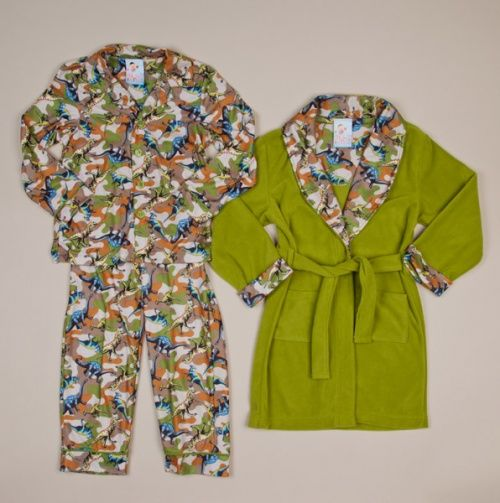 Toddler Boys 3Pc Dino Camouflage Robe and Pajamas - I LOVE this.  Need to find patterns for this stuff.