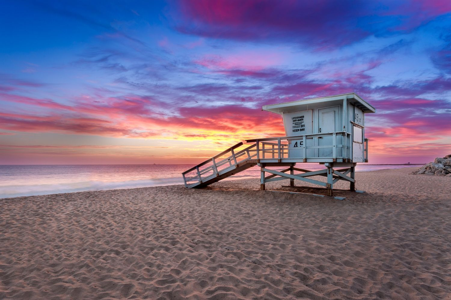 Image result for mission beach sunset lifeguard tower