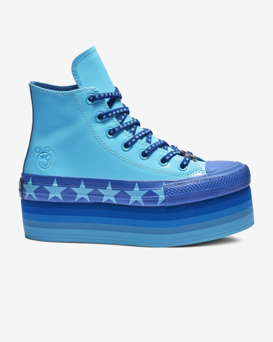 8da37661c8f0 Converse x Miley Cyrus Chuck Taylor All Star Platform Faux Patent High Top.  The Chuck Taylor All-Star Lift and Platform have become a signature of the  ...