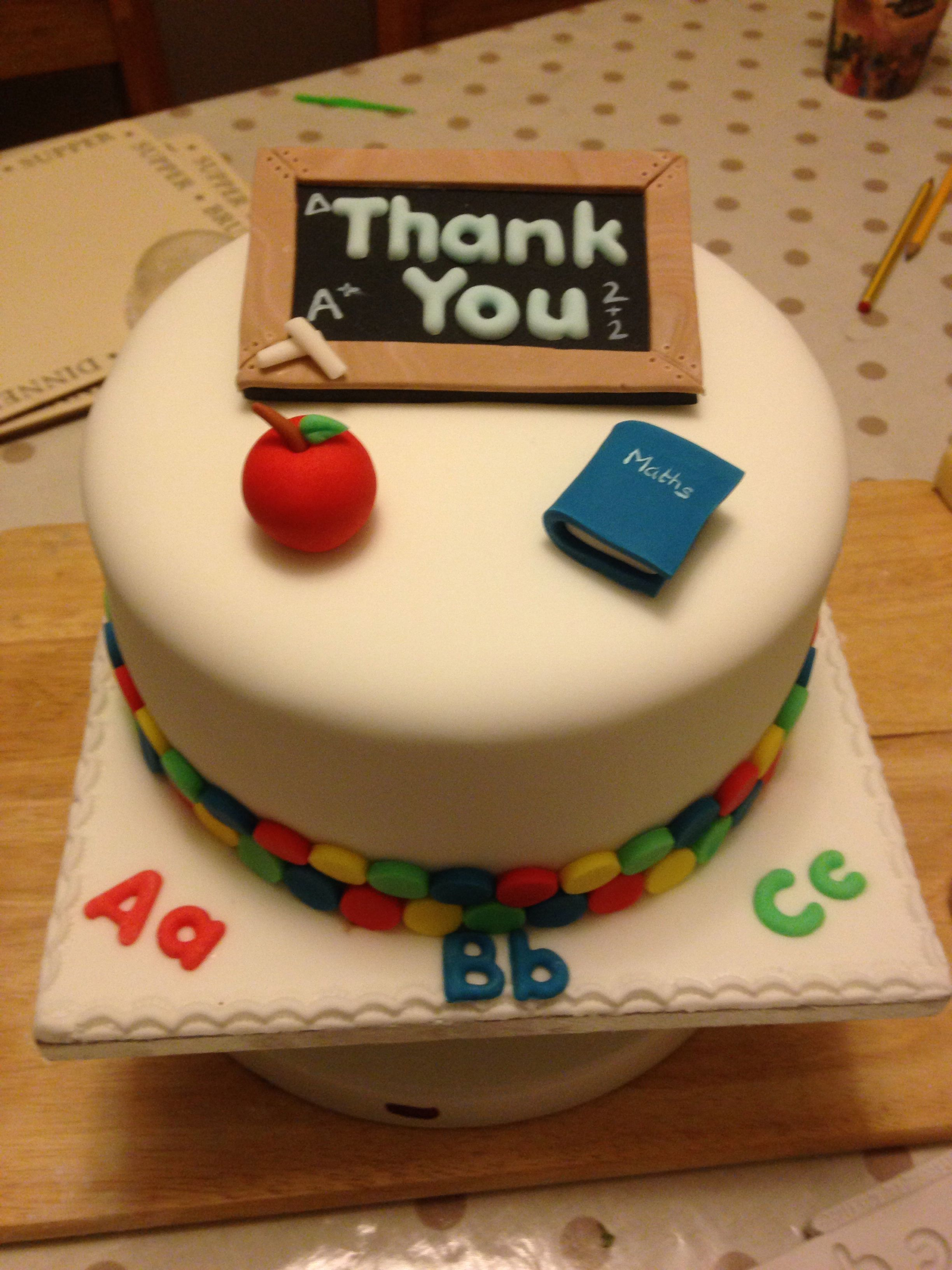 Teacher Thank You Cake