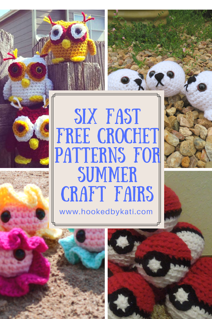 Six Fast Free Crochet Pattern To Sell At Summer Craft Fairs #craftstosell