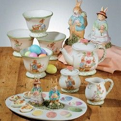 Susan Winget Pottery Certified International Bunny Blossoms Collection By Susan Winget Easter Table Dinnerware Easter Spring