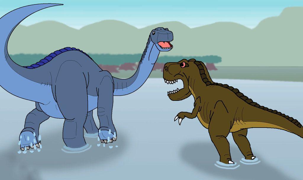 Grandpa Longneck Vs Sharptooth by kylgrv | Dinosaurs