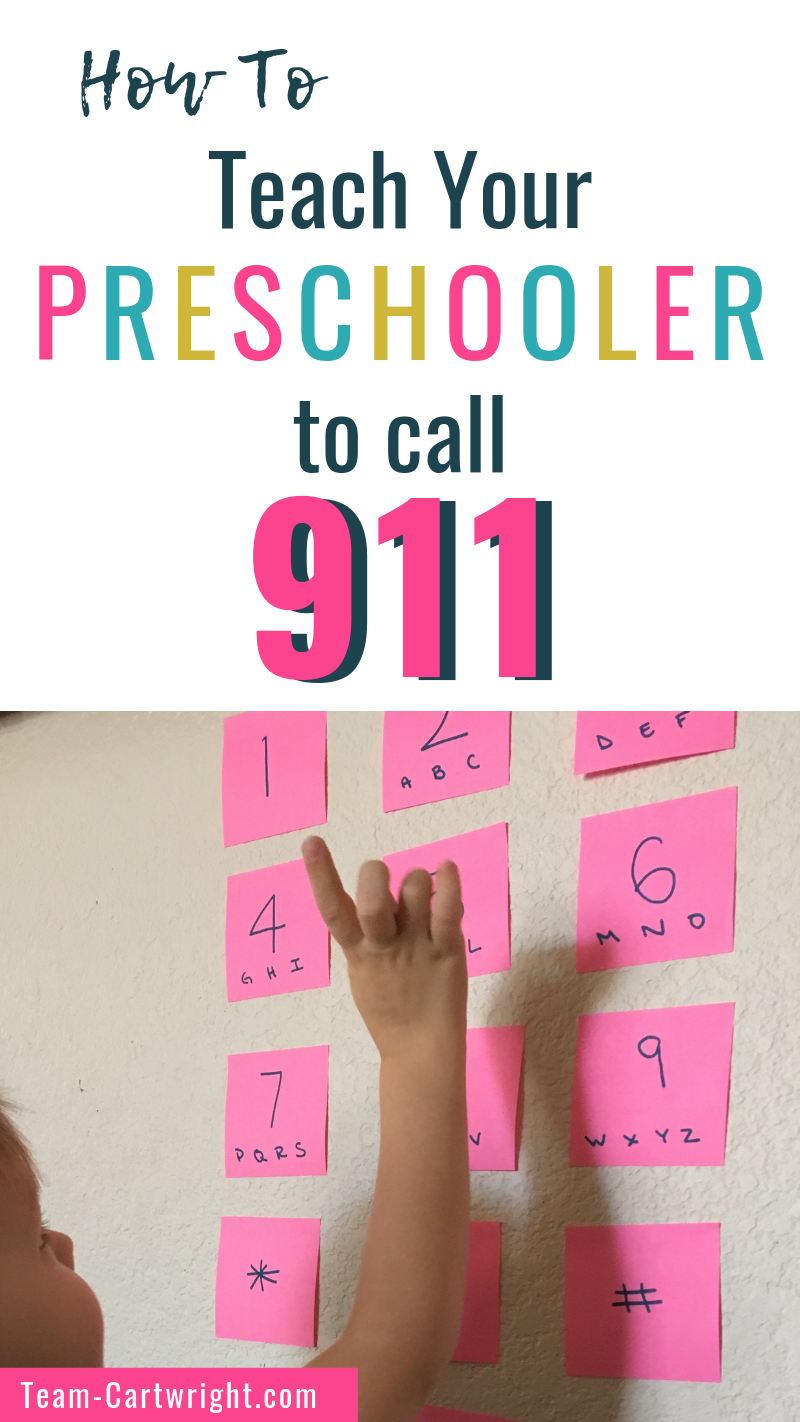 How To Easily Teach Your Preschooler To Call 911 #911craftsfortoddlers