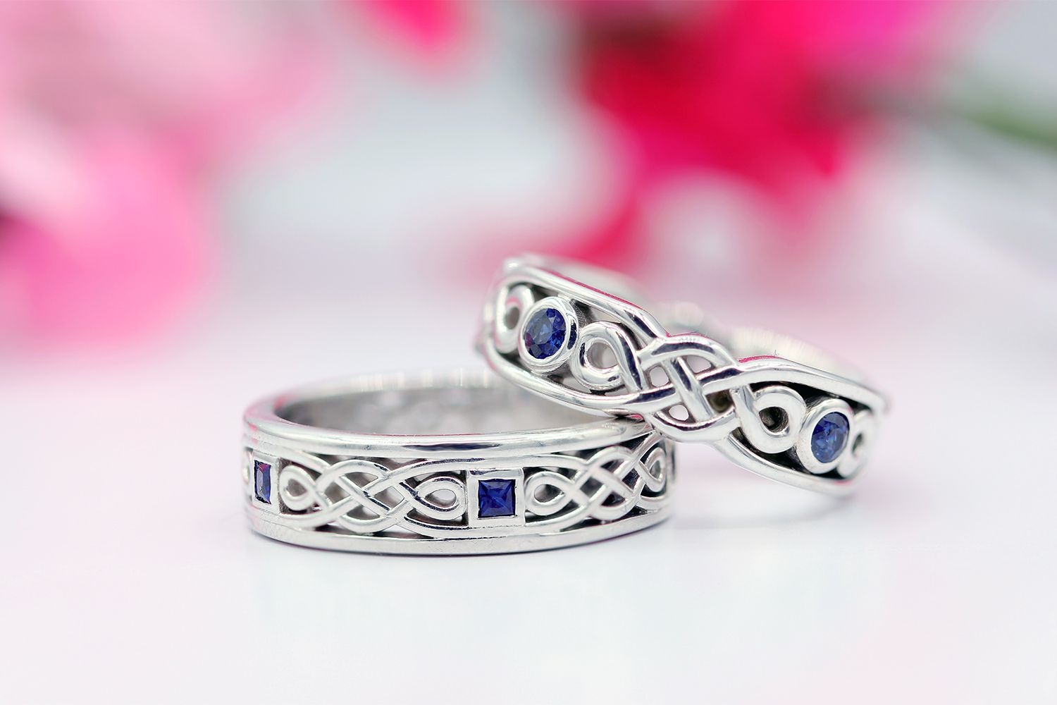 Celtic wedding rings for him and for her celticrings