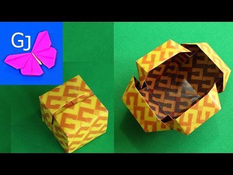Оригами коробочка куб - YouTube