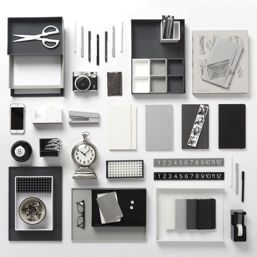 New Poppin Dark Gray Desk Accessories Cool And Modern Office