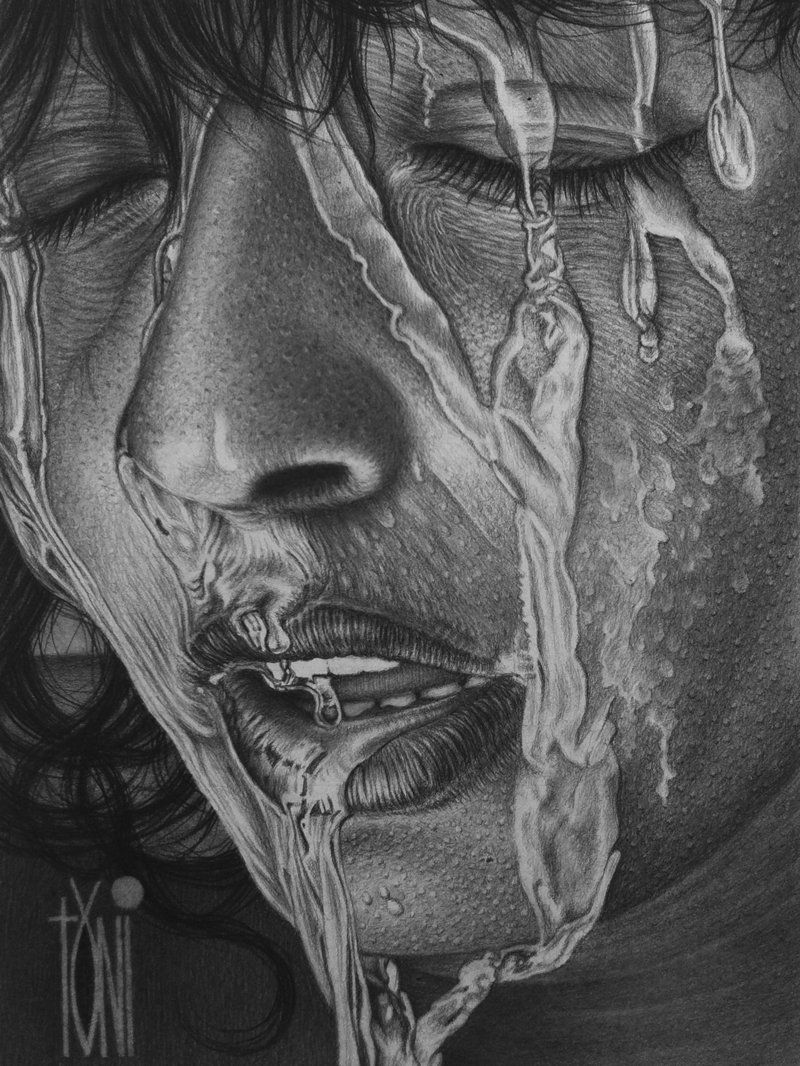 Wet face by toniart57 on deviantart
