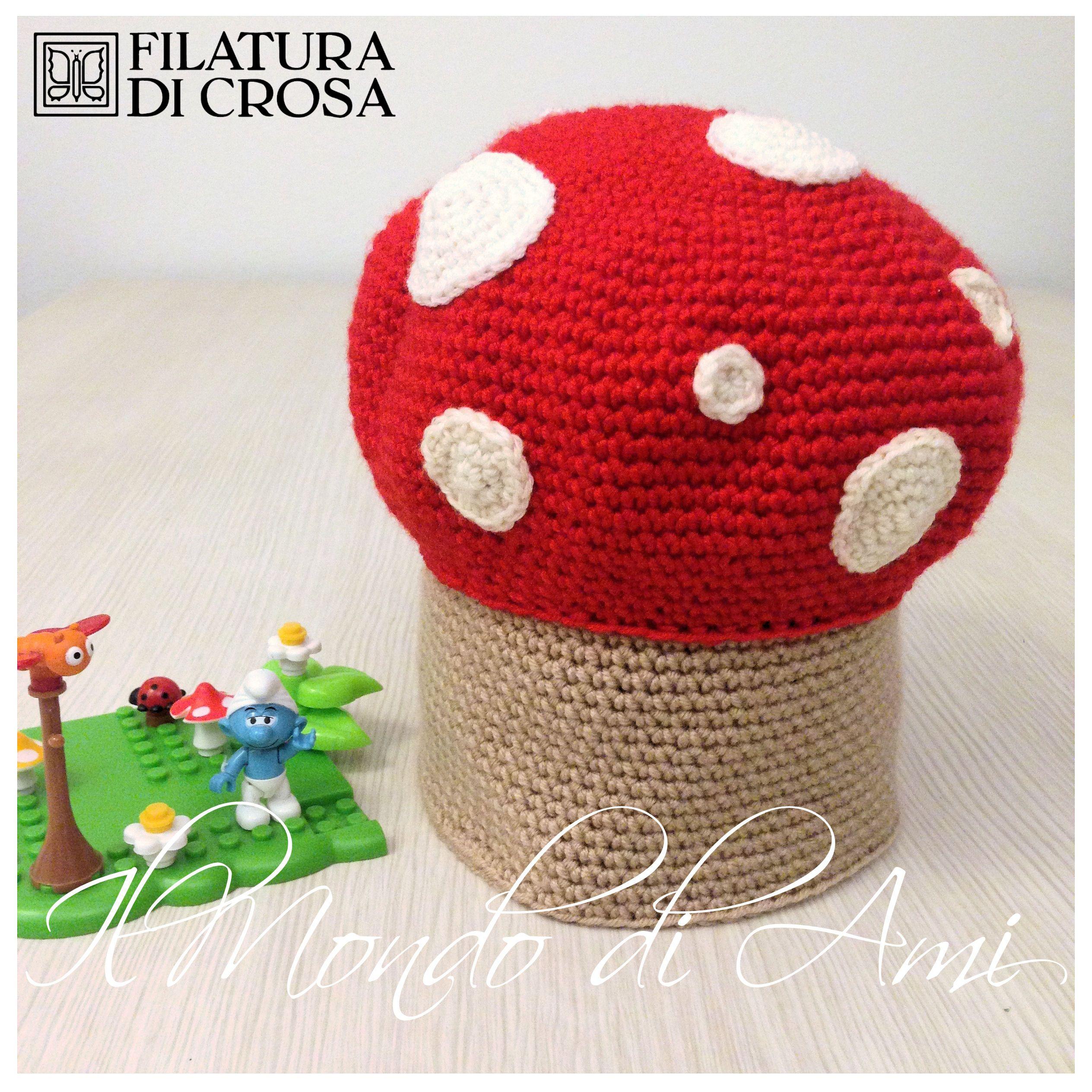 """Berretto funghetto #handmade #crochet realizzato con filato microfibra """"Excellent Baby"""" Filatura di Crosa"""