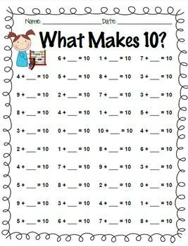 math worksheet : addition facts practice  0 through 10 and what makes 10  math  : Addition Facts Worksheets