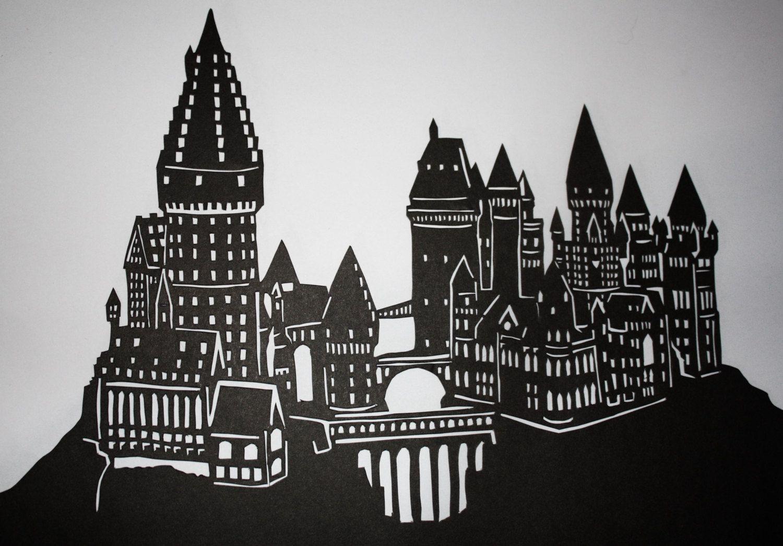 Hogwarts silhouette   ...
