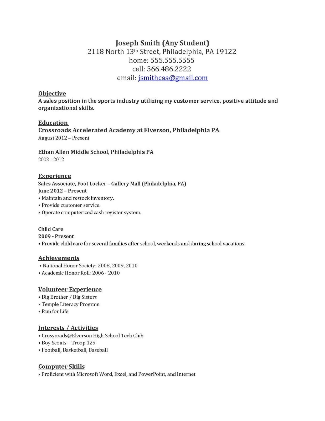 Some Resume Samples Cover Letter Example Work Job Examples Resumes