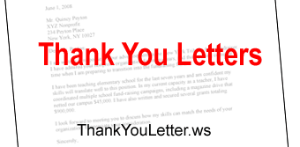 sample thank you letter letter of recommendation