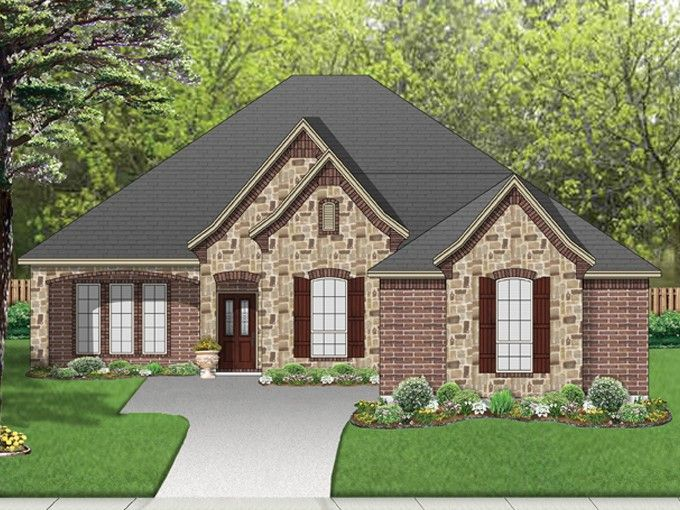 European House Plan With 2120 Square Feet And 3 Bedrooms From Dream Home Source House Plan Code Dhsw075832 House Plans European House European House Plans