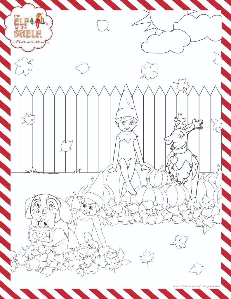 The Elf On The Shelf A Christmas Tradition Elf Crafts Christmas Coloring Pages Fall Coloring Pages