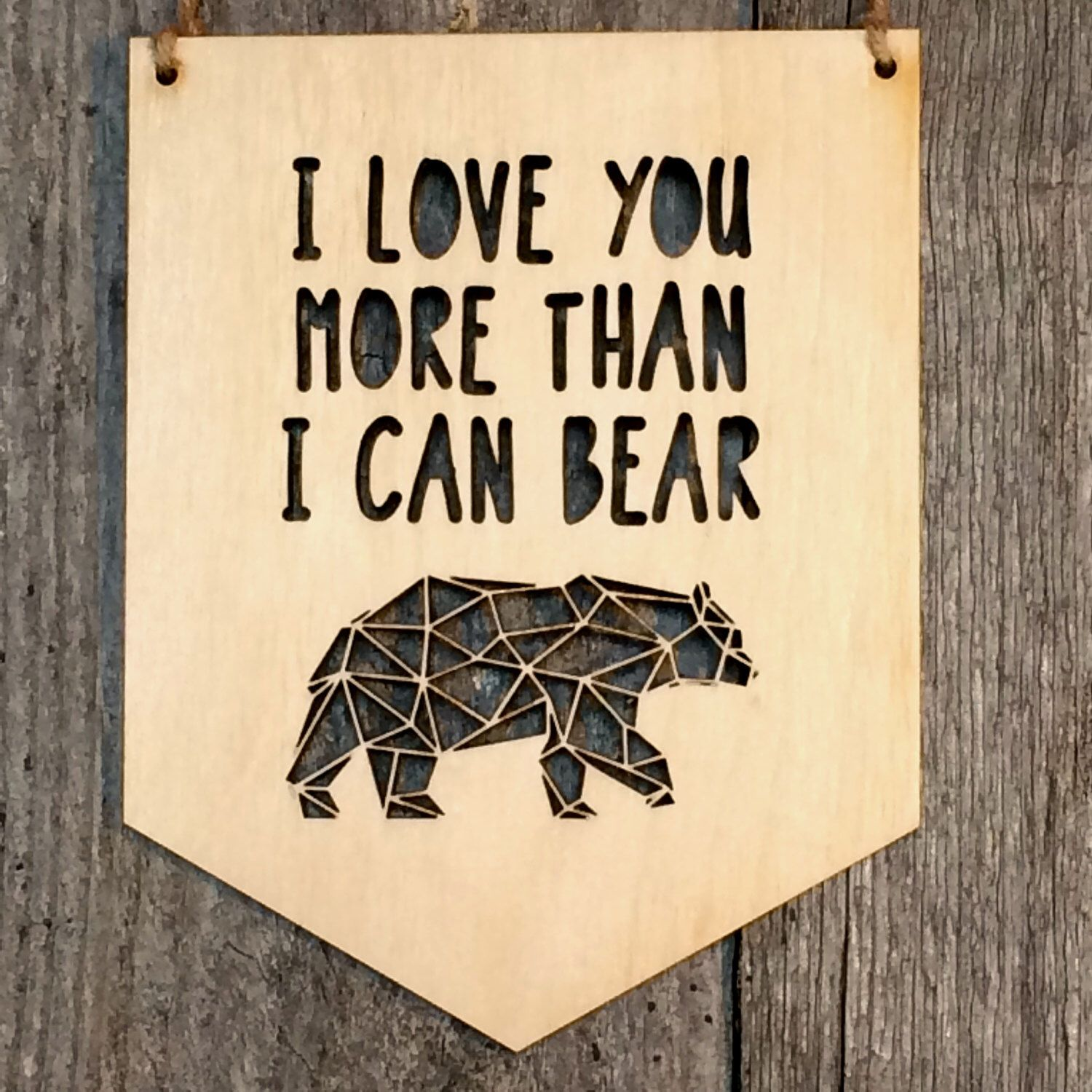 I Love You More Than I Can Bear -Nursery Wall Sign -Nursery Wall ...