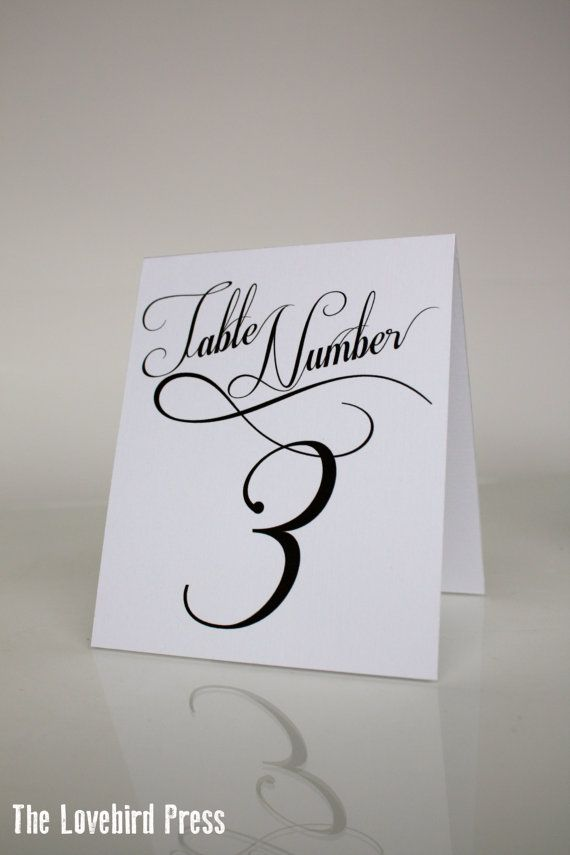 printable wedding table numbers tent fold table numbers 11 20