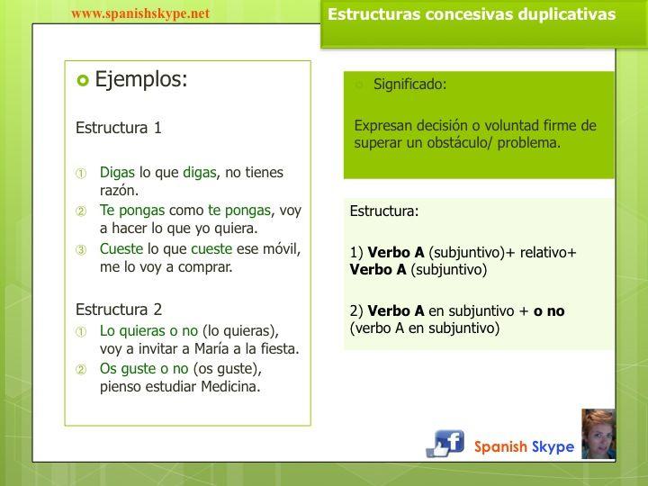 Estructuras Concesivas En Español Oraciones Concesivas