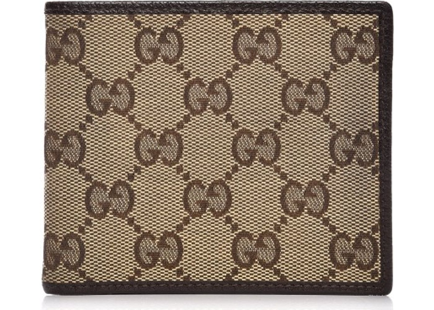 ed4478ddbae7 Gucci Mens Bifold Wallet Monogram GG Brown/Beige | Style Wish List ...