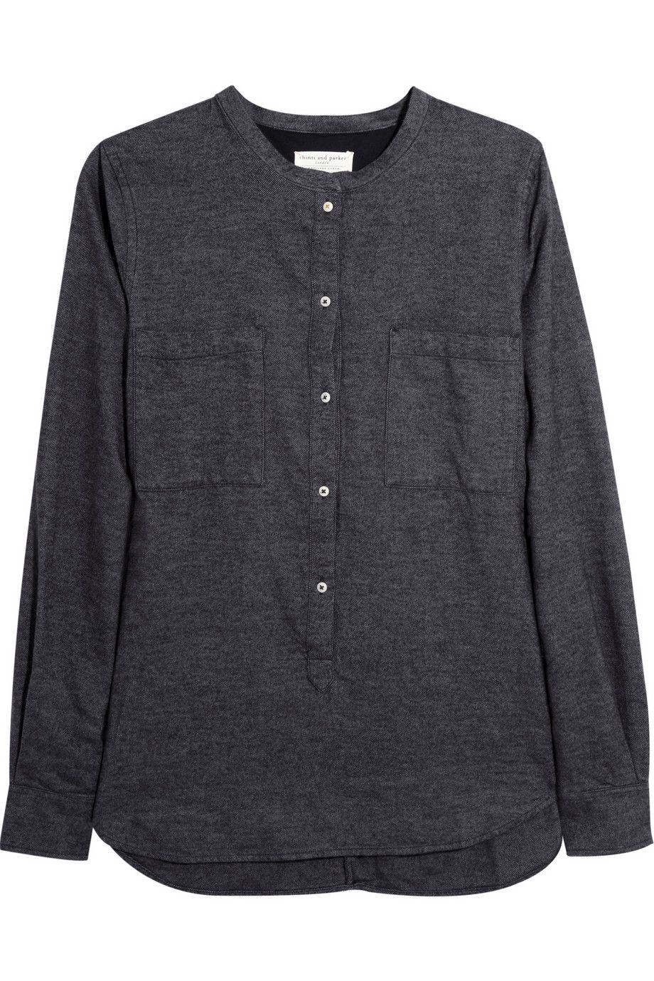 Flannel shirt black and grey  Cottonflannel shirt by Chinti and Parker  B L A C K  Pinterest