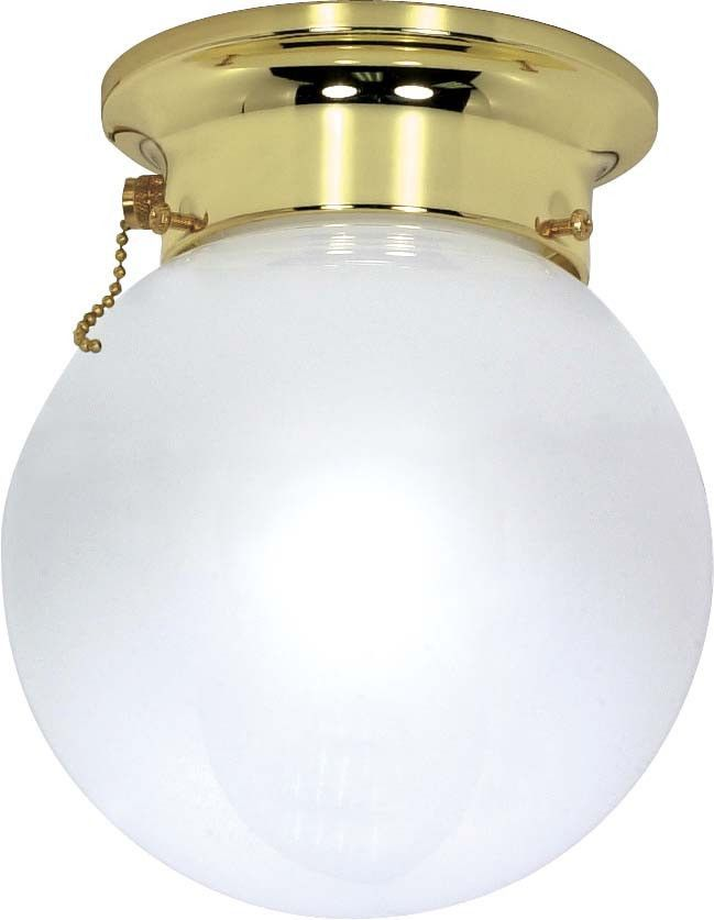 Ceiling Light With Pull Chain Switch Nuvo 1 Light  6 Inch  Ceiling Mount  White Ball W Pull Chain Switch