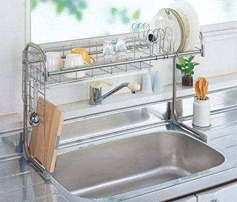 Amazon Com Mory Drainer Stainless Steel Sink Rack 65 110cm
