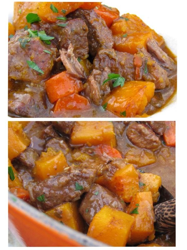 Beef and butternut squash stew #beef #Butternut_squash #Stew #Blood_orange #Grass_Fed