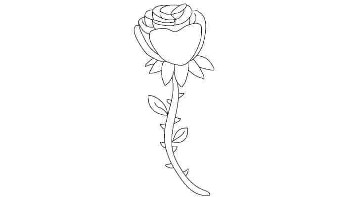 Comment Dessiner Une Rose Dessein De Dessin Art Pinterest Rose