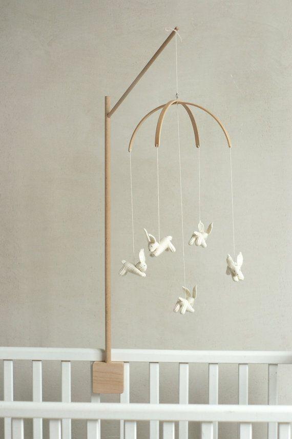 baby mobile holder baby mobile stand wooden mobile arm. Black Bedroom Furniture Sets. Home Design Ideas