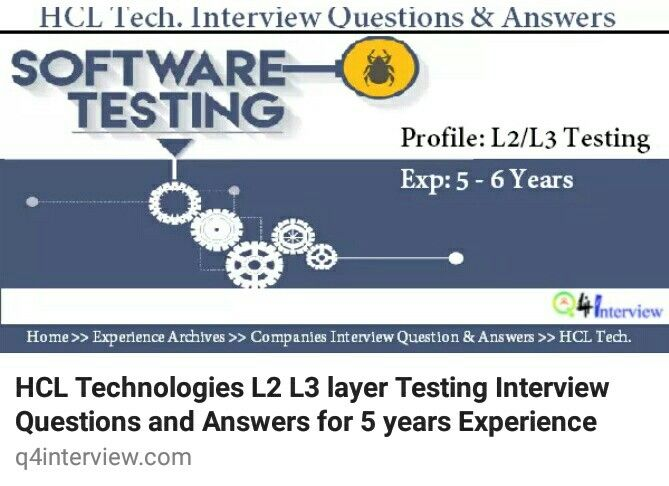Tricky L2 L3 Layer Testing Interview Questions Asked In Hcl Tech 5
