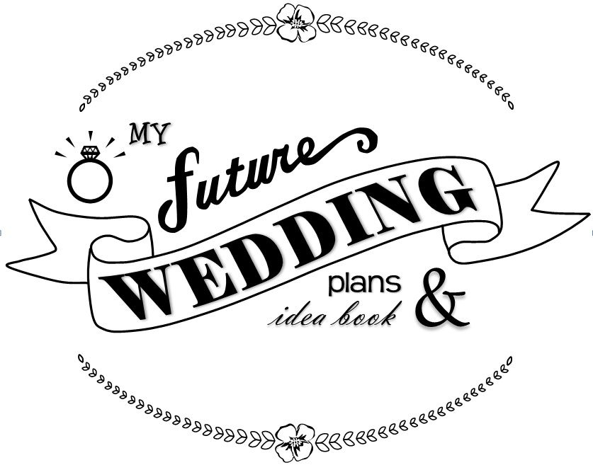 A printable for the cover of your wedding plans binder