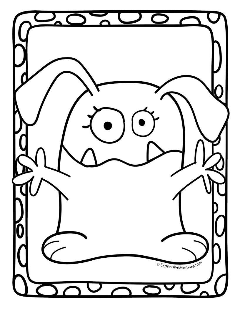 Monster Coloring Pages Canavarlar Sevimli Canavarlar Ve Cizim