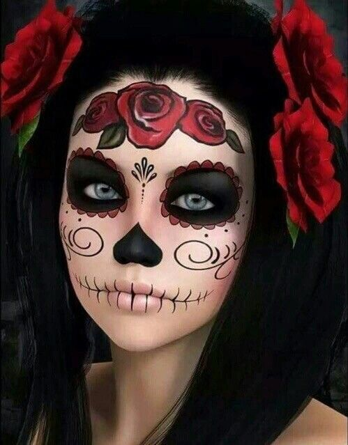 Crane mexicain make up and cosplay pinterest cr ne mexicain maquillage et maquillage - Maquillage mexicain facile ...