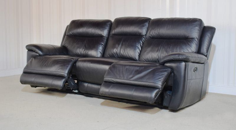Black Leather Sofa 3 Seater Electric Recliner Touch 49 Black Leather Sofas Leather Sofa Sofa