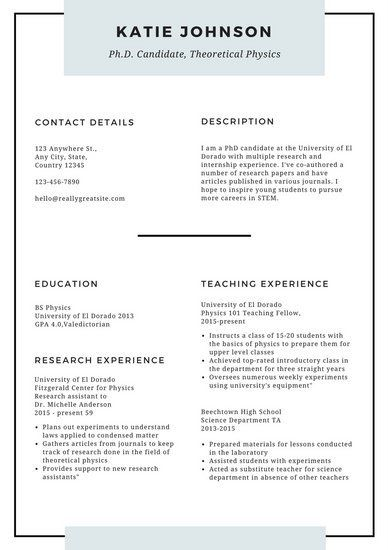 White Minimal Scholarship Resume
