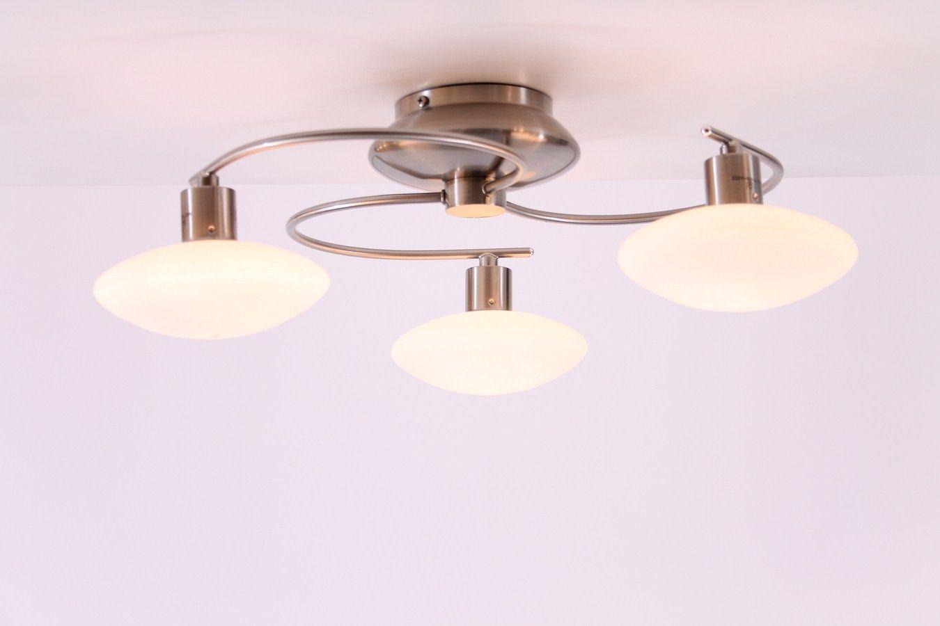 Lampen Plafondlamp Incl 3 X 40 Watt G9 Halogeen 230 Volt Plafondlamp 3 X Rond Glas Plafondlamp Mit Bildern Lampen