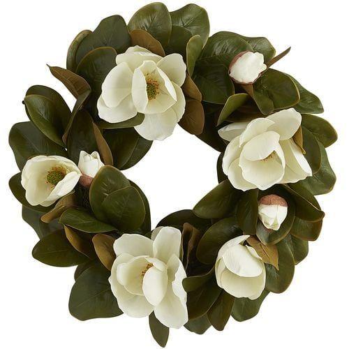 """Photo of 24 """"faux magnolia wreath"""