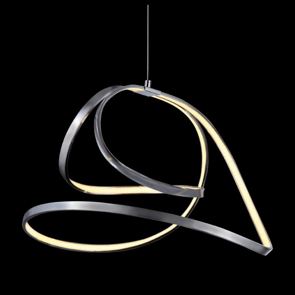 Mimax lighting shine 5 ribbon led pendant light in satin nickel mimax lighting shine 5 ribbon led pendant light in satin nickel aloadofball Images