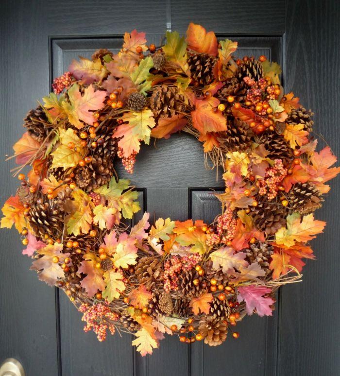 Dekoideen Herbst Eingang Dekorieren Kranz | Deko | Pinterest ... Deko Selbermachen Eingang