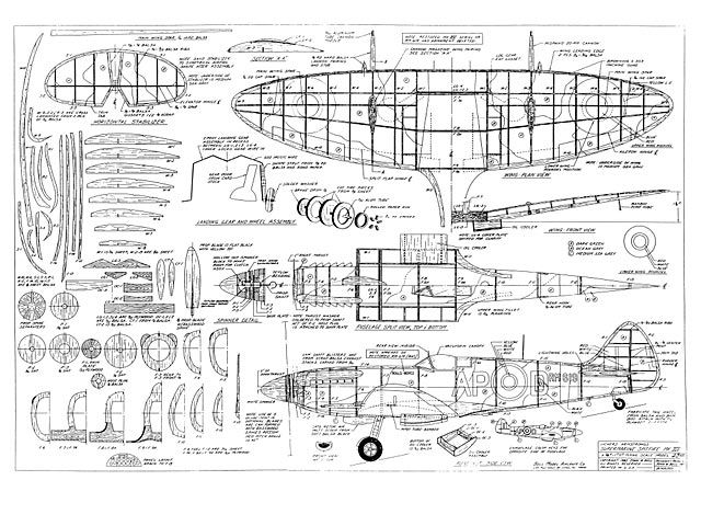 Supermarine Spitfire Mk Xiv Plan Thumbnail Balsa Wood Model Rhpinterest: Spitfire Airplane Schematics Or Drawings At Gmaili.net