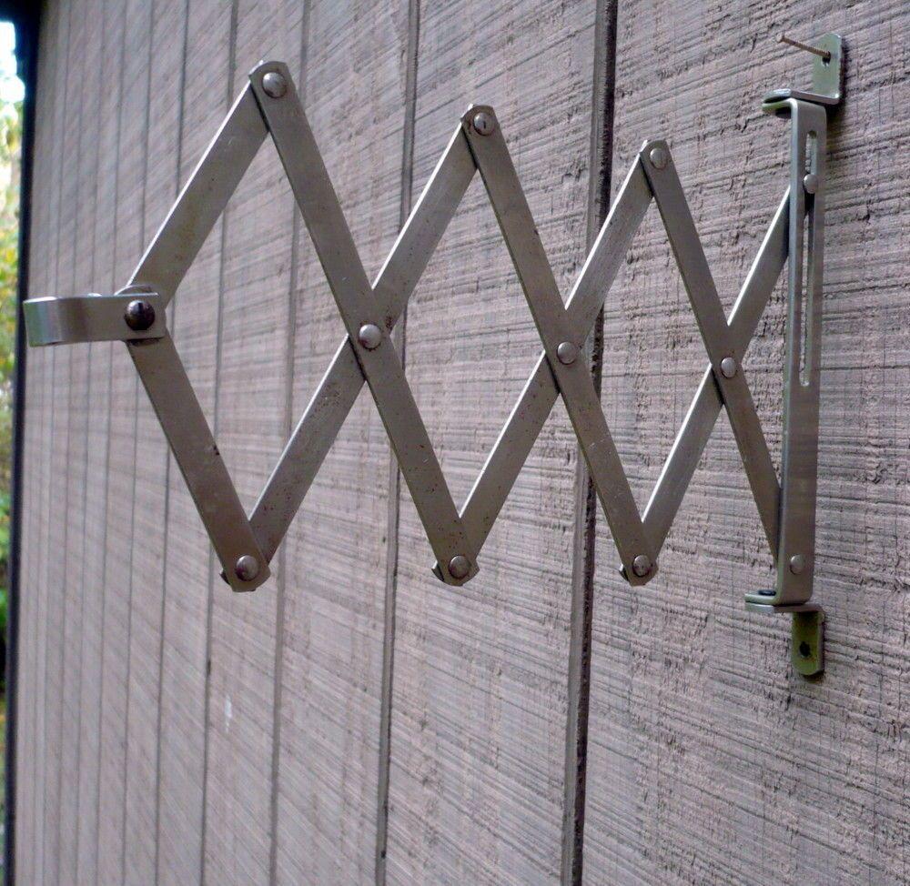 Vintage Industrial Accordion Scissor Arm Extending Wall